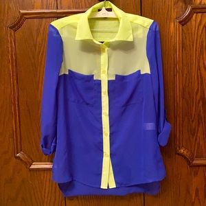 Vibrant Material Girl blouse size XS